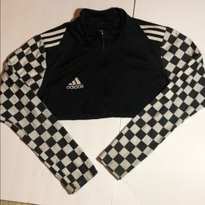 First of a Kind vintage Adidas checkered crop top